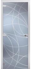Стеклянная дверь Оттава матовое с фрезеровкой