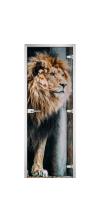 Стеклянная дверь Animals-01