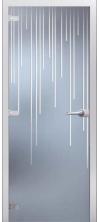 Стеклянная дверь Варна матовое с фрезеровкой