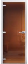 Стеклянная дверь 02 Тонированная бронза