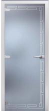 Стеклянная дверь Греция матовое с фрезеровкой