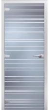 Стеклянная дверь Даллас матовое с фрезеровкой