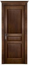 Дверь межкомнатная массив ольхи ОКА Валенсия глухая античный орех