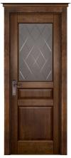 Дверь межкомнатная Валенсия со стеклом античный орех