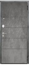 Входная дверь Аргус Люкс 3к 2п Агат бетон темный