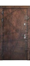 Входная дверь Vegas лиственница мореная + патина