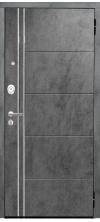 Входная дверь Аргус Люкс 3к 2п Лофт темный бетон